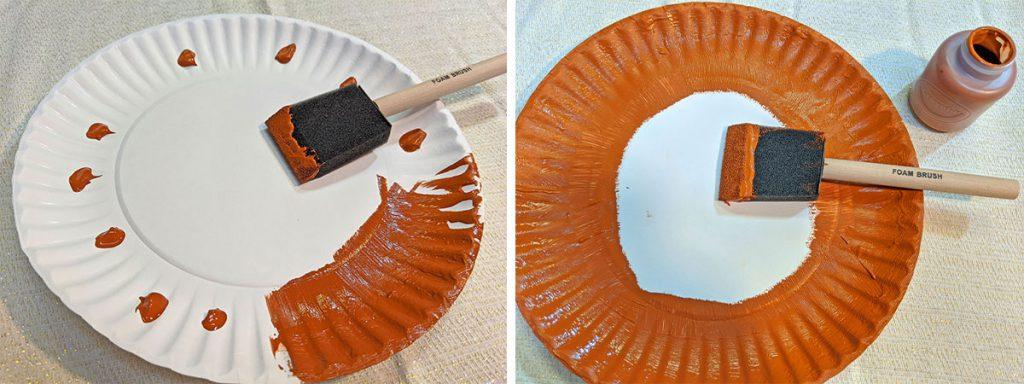 Paper plate turkey Thanksgiving craft